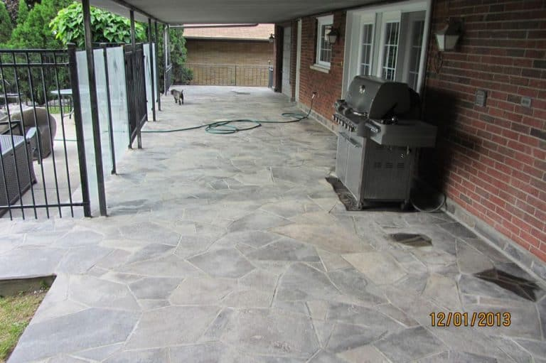 after stone work