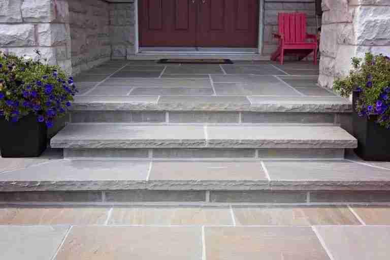Square Cut Flagstone Porch
